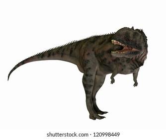 3D rendering of a carnivorous dinosaur