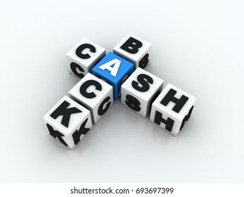 3d rendering Cash Back Crossword
