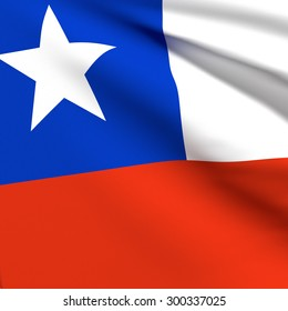 3d rendering of a Chile flag