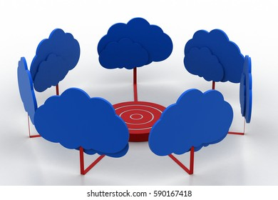 3d rendering of Cloud target concept