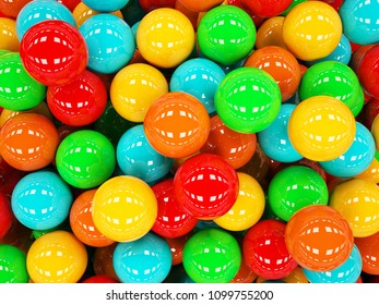 3D rendering colorful balls