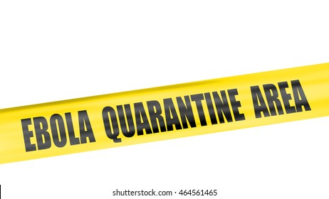 A 3d rendering of cordon tape warning of ebola quarantine area