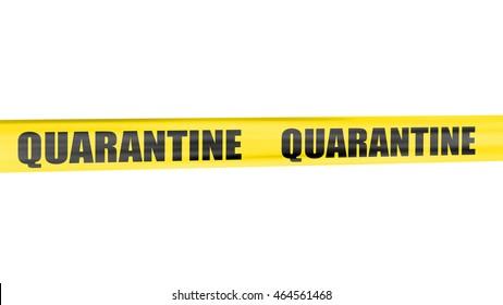 A 3d rendering of cordon tape warning of quarantine