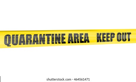 A 3d rendering of cordon tape warning of quarantine area