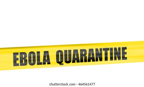 A 3d rendering of cordon tape warning of ebola quarantine