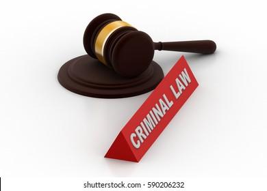 3d rendering of Criminal law concept