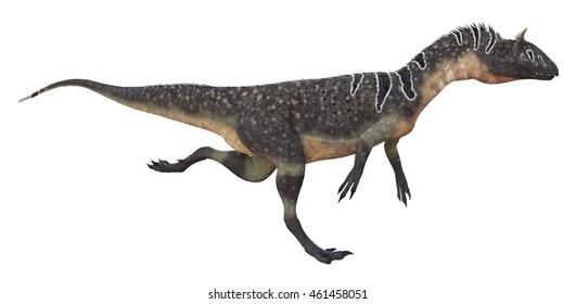 3D rendering of Cryolophosaurus.