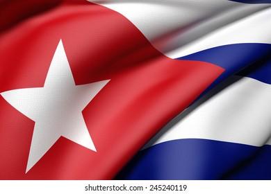 3d rendering of a Cuba flag