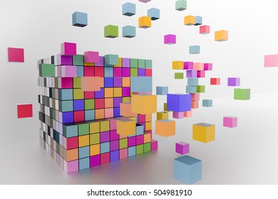 3D rendering of cube abstract background