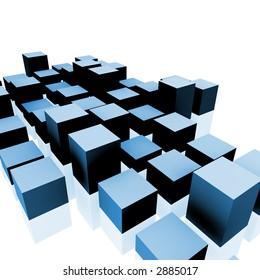 3D rendering of cubes.