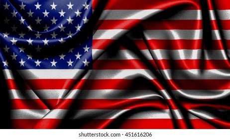 3D rendering dark  flag of the United States of America, often referred to as the American flag, is the national flag of the United States of America