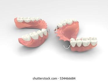 3D rendering denture