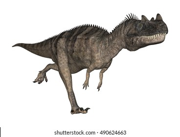 3D rendering of a dinosaur Ceratosaurus isolated on white background