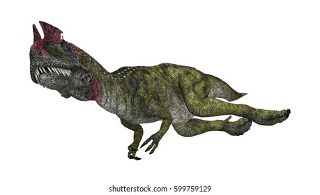 3D rendering of a dinosaur Cryolophosaurus isolated on white background