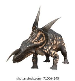 3D rendering of a dinosaur Einiosaurus isolated on white background