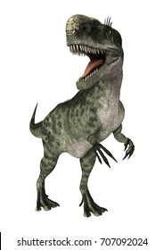 3D rendering of a dinosaur Monolophosaurus isolated on white background