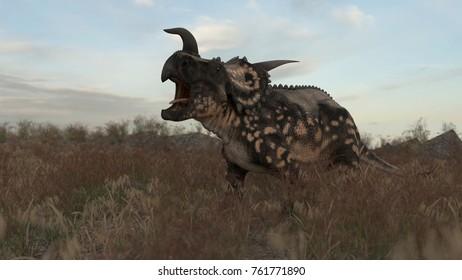 3d rendering of the einiosaurus dinosaur