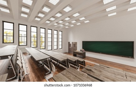 3d rendering of Empty Auditorium Interior