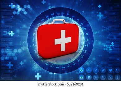 3d rendering First aid kit