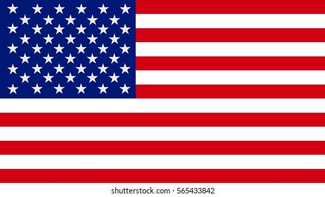 3D rendering of Flag of the United States of America