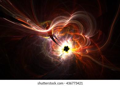 3D rendering fractal light background