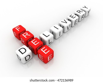 3d rendering free delivery label for on-line store