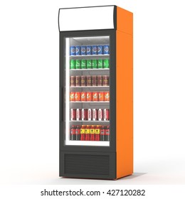 3d Rendering of a Fridge Drink on a white background