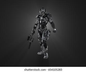 3d rendering of a futuristic super soldier