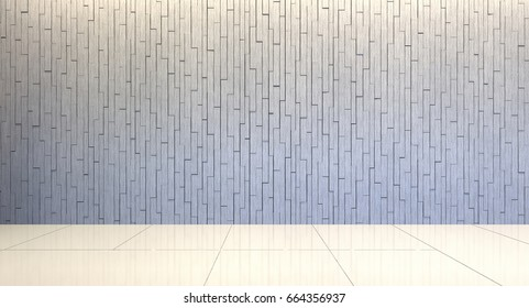 3d rendering of gray brick wall