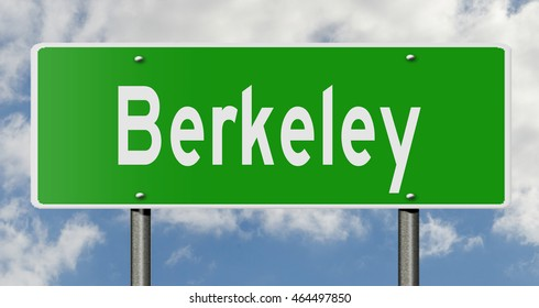 A 3d rendering of a highway sign for Berkeley