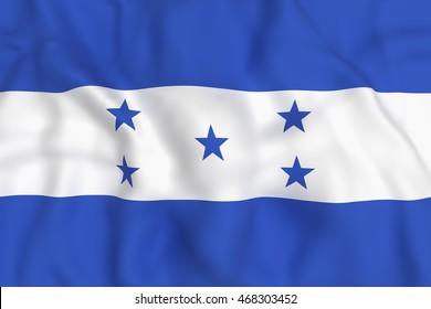 3d rendering of Honduras flag waving