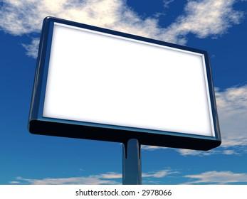 3d rendering illustration of a billboard