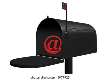 3d rendering illustration of an email box.