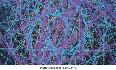 3d rendering illustration of a geometric net structure design o