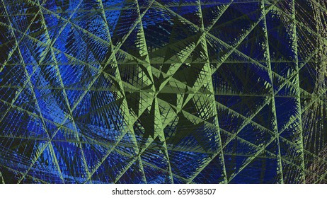 3d rendering illustration of a geometric net structure design s