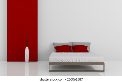 3d rendering image of modern beds