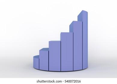 3d rendering of increase pie chart