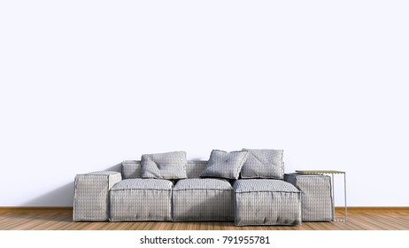 3d rendering interior background sofa colorfull on wood floor