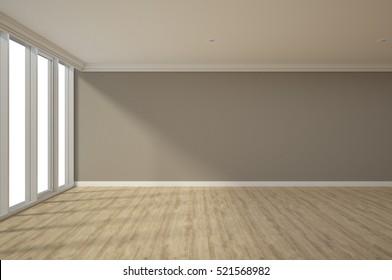 3d rendering interior decoration empty room