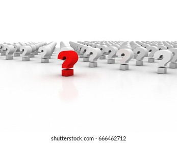3d rendering leader question mark