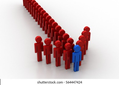 3D rendering of Leadership concept