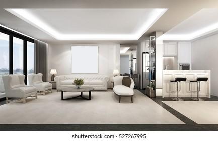 3D rendering of Luxury room design