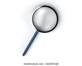 3d rendering of magnifying glass