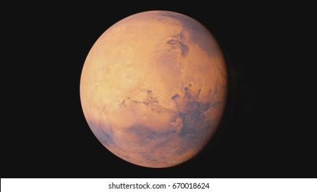 3D Rendering of the Mars. Extremely high detail level and superior resolution when compared to any satellite based observations.