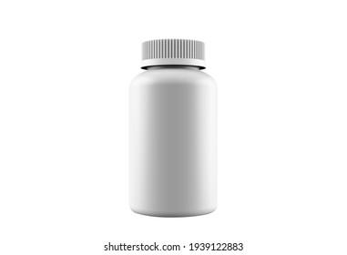 3D rendering mock-up white medicine jar | 3D mockup | 3D image