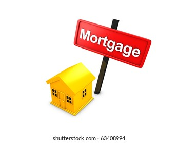 3d rendering, Mortgage loan concept isolated over white background