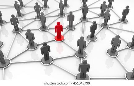 3d Rendering Network People