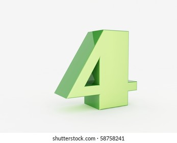 3D rendering of the number 4