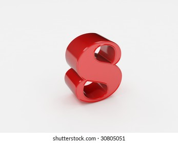 3d rendering of the number 8