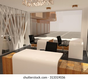 3d rendering of an office of the company interior design